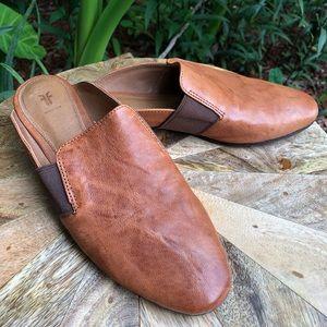 FRYE Brown Leather Mule Slip On 7.5